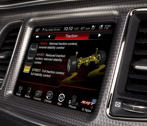 2015 Dodge Challenger SRT Hellcat 8.4 inch U-Connect Drive Modes